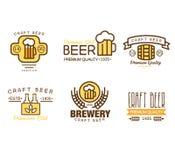 Gestaltungselemente für Bier-Haus Stockbilder