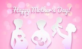 Gestaltungselemente für Design Muttertaggrüße lizenzfreie abbildung