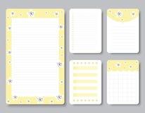 Gestaltungselemente für Notizbuch, Tagebuch, Aufkleber und andere Schablone Vektor, Illustration lizenzfreie abbildung