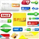 Gestaltungselemente für Verkauf Lizenzfreie Stockbilder