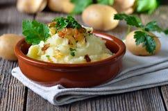 Gestampfte Kartoffeln Lizenzfreie Stockfotos