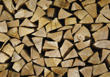 Gestapeld hout Stock Fotografie