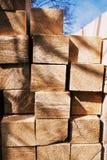 Gestapeld hout Royalty-vrije Stock Afbeeldingen