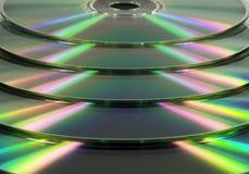 Gestapelde CD/DVD Royalty-vrije Stock Foto's