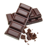 Gestapelde chocoladerepen Royalty-vrije Stock Foto's