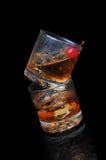 Gestapelde Cocktails Stock Foto's