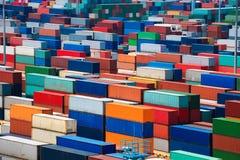 Gestapelde container Royalty-vrije Stock Afbeelding