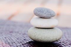 Gestapelde de stenen van Zen Royalty-vrije Stock Afbeeldingen