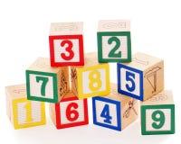 Gestapelde Genummerde Blokken Stock Fotografie