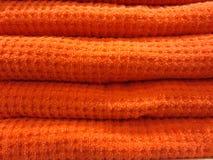 Gestapelde handdoeken Stock Afbeeldingen