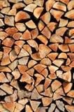 Gestapelde houten achtergrond stock fotografie