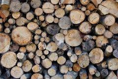 Gestapelde houten achtergrond Stock Foto's