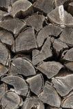 Gestapelde houten pinnen Royalty-vrije Stock Foto's