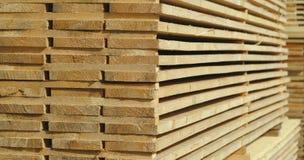 Gestapelde houten raad Royalty-vrije Stock Foto