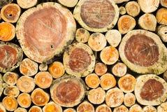 Gestapelde houtsnedeachtergrond Stock Fotografie