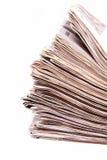 Gestapelde kranten stock afbeeldingen