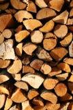 Gestapelde logboeken Stock Foto's