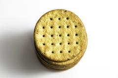 Gestapelde Multigrain Gezonde Crackers Royalty-vrije Stock Fotografie