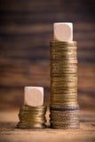 Gestapelde muntstukken Royalty-vrije Stock Afbeeldingen
