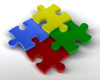 Gestapelde puzzel vector illustratie