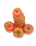 Gestapelde rode tomaten Royalty-vrije Stock Afbeeldingen