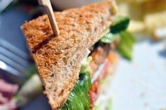 Gestapelde sandwich Stock Foto's