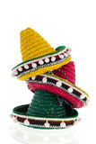 Gestapelde sombrero's Royalty-vrije Stock Foto