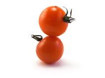 Gestapelde tomaten Stock Foto's