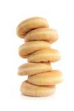 Gestapelde verticaal zeven donuts Royalty-vrije Stock Fotografie