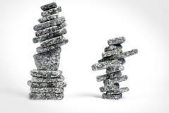 Gestapelde zen stenen Stock Afbeelding