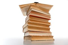 Gestapelte alte Bücher Stockfotografie