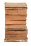 Gestapelte alte Bücher der unterschiedlichen Form und der Farbe Lizenzfreies Stockbild