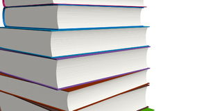 Gestapelte Bücher stock footage