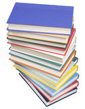 Gestapelte Bücher auf Weiß Lizenzfreie Stockbilder