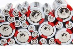 Gestapelte Batterien Stockfotos
