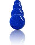 Gestapelte blaue Marmore Stockfoto