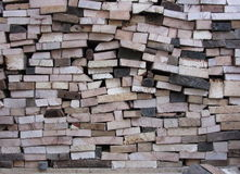 Gestapelte firewoods Lizenzfreies Stockfoto