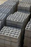 Gestapelte gran Aufbau-Blockstapel Stockfoto
