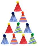 Gestapelte Partyhüte Stockbild