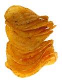 Gestapelte salzige ADN würzige popato Chipslettechips Stockbilder