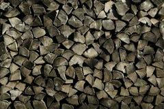Gestapeltes Feuer-Holz Stockbilder