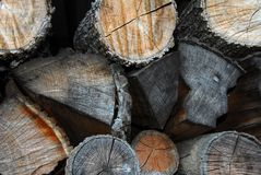 Gestapeltes Holz Lizenzfreies Stockfoto