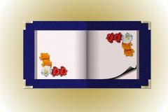 Gestbook romántico Fotografía de archivo libre de regalías