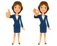 Geste correct de femme d'affaires illustration stock
