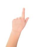 Geste d'enfant d'écran tactile Photographie stock