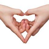 Geste de coeur Photo libre de droits