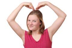 Geste de coeur Photographie stock libre de droits