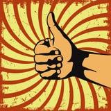 Geste de main dans un grunge de vecteur illustration libre de droits