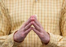 Geste de main de l'homme Photos stock