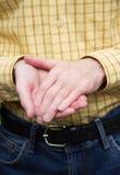 Geste de main de l'homme Images stock